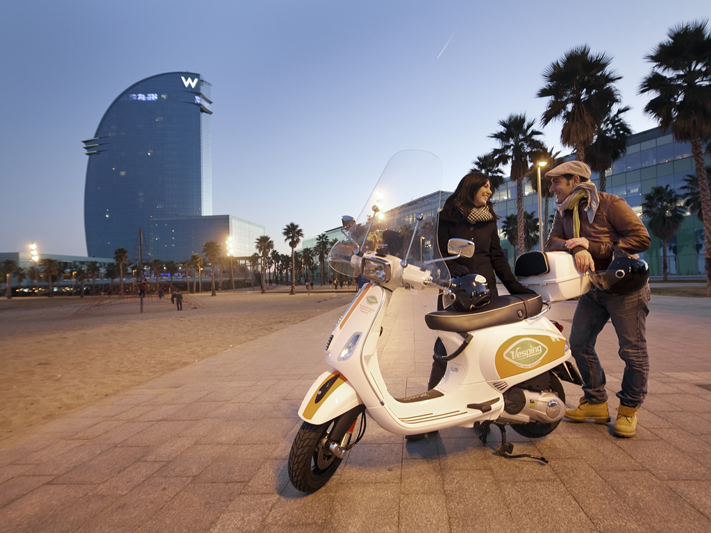 Exploring Barcelona Via Scooter With City Tour Vesping